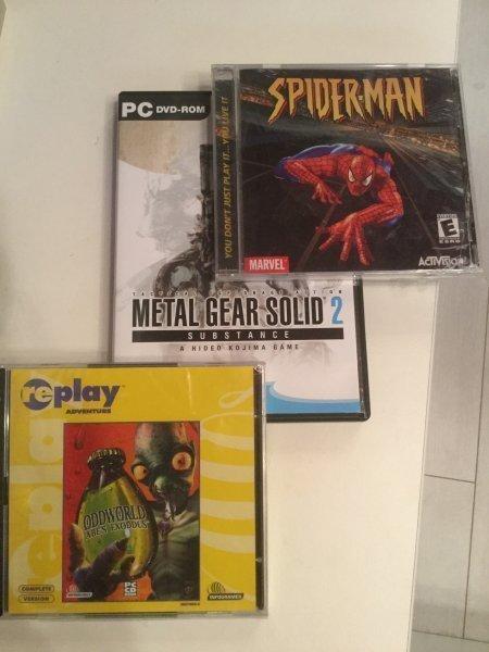 Metal gear,spider man,oddworld abe's для пк (pc)