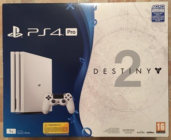 PS4 Pro 1TB Glacier White (EU) + диск Destiny 2 (рус) Новинка!